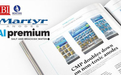 Martyr Aluminum Anodes highlighted in the International Boating Industry Magazine